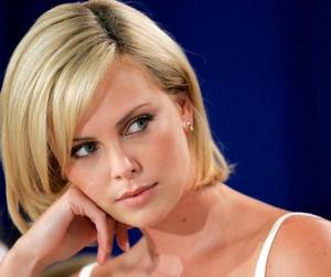 Stuck on geography ... actress Charlize Theron.